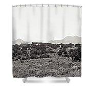 Landscape Galisteo Nm K10k Shower Curtain