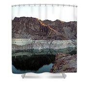 landscape in Hoover dam Shower Curtain