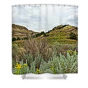 Landscape In Northwest North Dakota  Shower Curtain