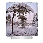 Landscape In Pastel Colors Shower Curtain