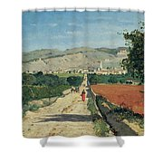 Landscape In Provence Shower Curtain by Paul Camille Guigou