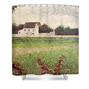 Landscape In The Ile De France Shower Curtain