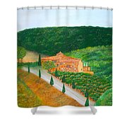 Landscape In Tuscany Shower Curtain