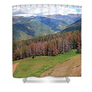 Landscape In Vail Shower Curtain