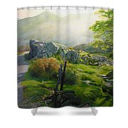 Landscape In Wales Shower Curtain