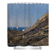 Landscape Marine Background Avendano Martinez, Serafin Shower Curtain