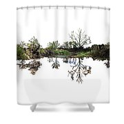 Landscape Minimalism Shower Curtain by Michael Colgate