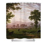 Landscape Near Lucerne With View To Mount Rigi Shower Curtain