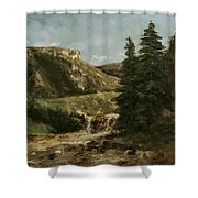 Landscape Near Ornans Shower Curtain