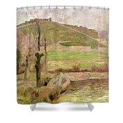 Landscape Near Pont Aven Shower Curtain