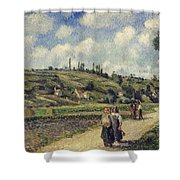 Landscape Near Pontoise Shower Curtain