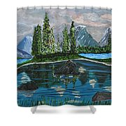 Landscape Of Tranquility And Storms  Shower Curtain
