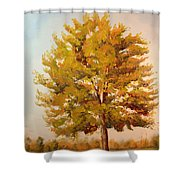 Landscape Oil Painting Shower Curtain