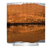 Landscape Perfectly Reflected In Palsko Lake Shower Curtain