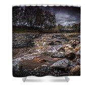 Landscape River And Bridge II Shower Curtain