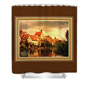 Landscape Scene - Germany L A With Decorative Ornate Printed Frame. Shower Curtain