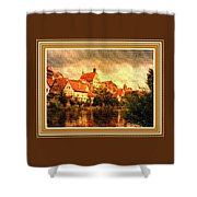 Landscape Scene - Germany. L B With Decorative Ornate Printed Frame. Shower Curtain