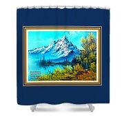 Landscape Scene Near Virginiahurst L A With Alt. Decorative Ornate Printed Frame. Shower Curtain