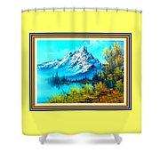 Landscape Scene Near Virginiahurst L B With Alt. Decorative Onate Printed Frame  Shower Curtain