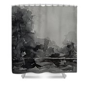 Landscape Value Study Shower Curtain