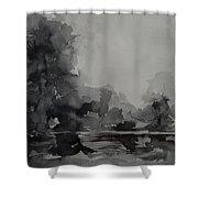Landscape Value Study Shower Curtain