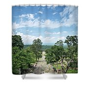 Landscape View From Preah Vihear Mountain In North Cambodia Shower Curtain