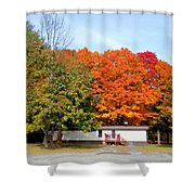 Landscape View Of Mobile Home 2 Shower Curtain