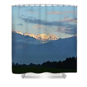 Landscape View Of The Dolomite Mountains In Northern Italy Shower Curtain