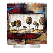 Landscape Vignettes-3 Shower Curtain
