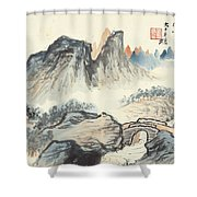 Landscape Village Shower Curtain