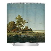 Landscape With A Clump Of Trees Shower Curtain