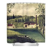 Landscape With A Fisherman Shower Curtain