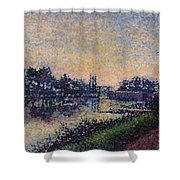 Landscape With A Lock 1885 Shower Curtain