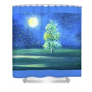 Landscape With A Moon Shower Curtain
