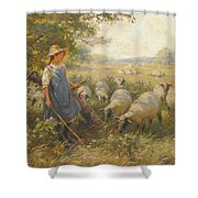 Landscape With A Shepherdess Shower Curtain