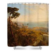 Landscape With Classical Ruins Shower Curtain