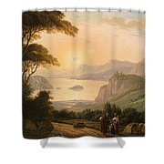 Landscape With Decorative Shower Curtain