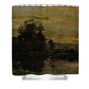 Landscape With Ducks Shower Curtain