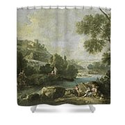 Landscape With Figures Shower Curtain