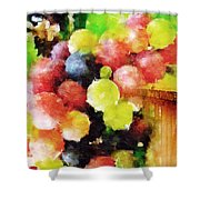 Landscape With Giant Grapes Shower Curtain