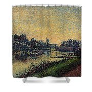 Landscape With Lock 1886 Shower Curtain
