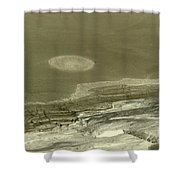 Landscape With Moon Shower Curtain