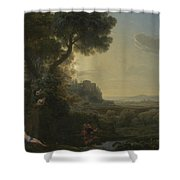 Landscape With Narcissus And Echo Shower Curtain