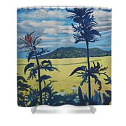Landscape With Nettles Shower Curtain