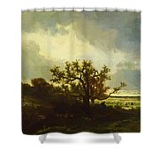 Landscape With Oaktree Shower Curtain