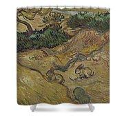 Landscape With Rabbits Saint Remy De Provence December 1889 Vincent Van Gogh 1853  1890 Shower Curtain