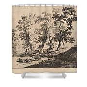 Landscape With Shepherds Shower Curtain