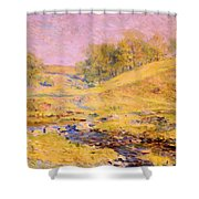 Landscape With Stream Shower Curtain