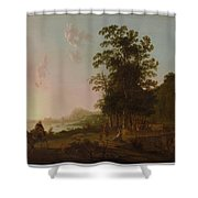Landscape With The Flight Into Egypt Shower Curtain