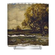 Landscape With Tree  Shower Curtain